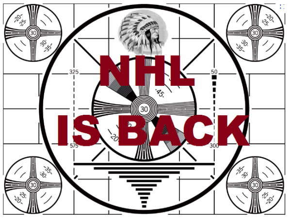 NHL IS BACK WOOT WOOT