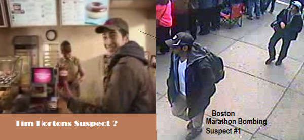 tim hortons Suspect boston marathon Bombing