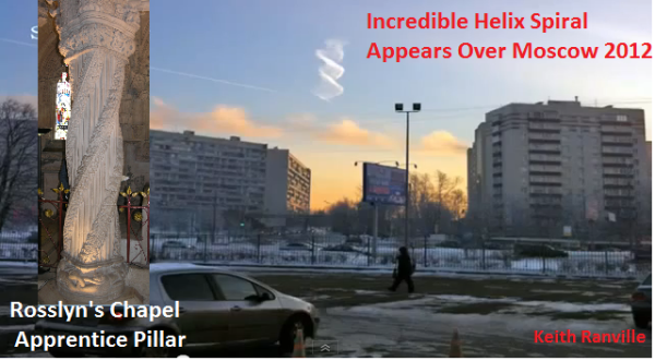 Rosslyn Helix Spiral Appears Over Moscow 2012