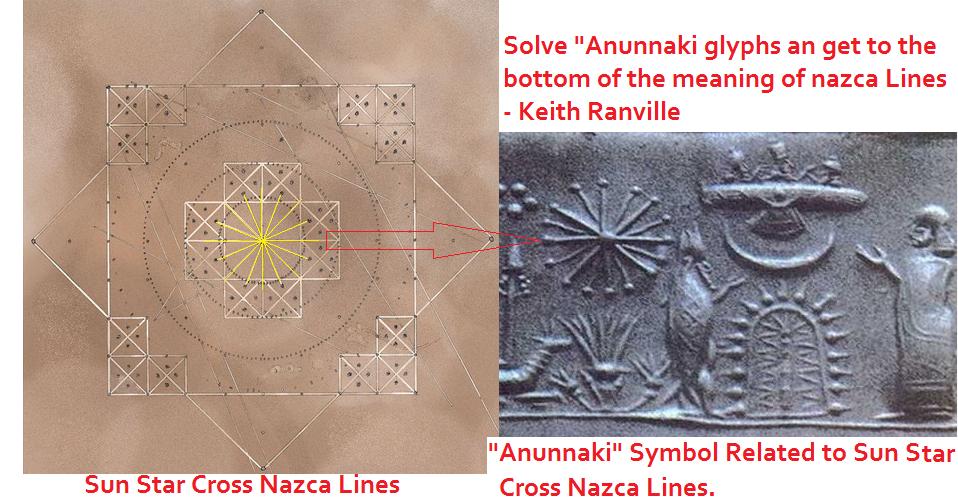 Anunnaki Sun Star Cross Nazca lines Research  | Keith Ranville First