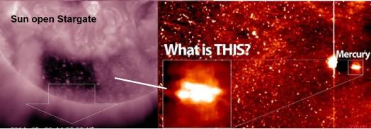 sun mercury ufo